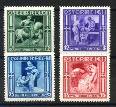 1936 - AUSTRIA - SOCCORSO INVERNALE  4v. NUOVI - LOTTO/34045