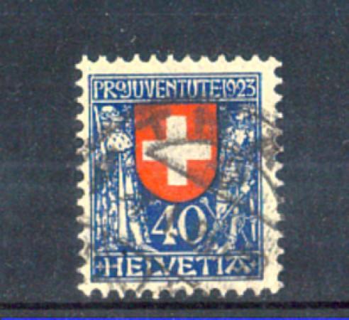 1923 - LOTTO/11264 - SVIZZERA - 40+10c. PRO JUVENTUTE - USATO