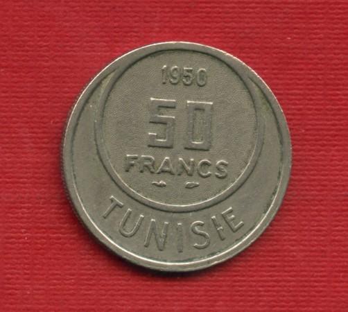 1950 - LOTTO/M23055 - TUNISIA - 50 FRANCHI
