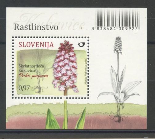 2015 - SLOVENIA - ORCHIDEE  FOGLIETTO - NUOVO - LOTTO/34600