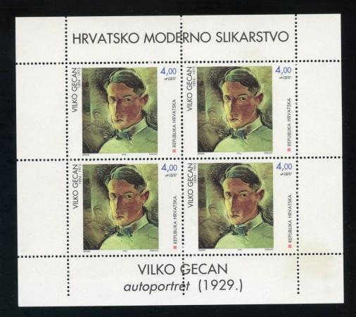1994 - CROAZIA - LOTTO/19864BF - PITTORI CROATI 3 FOGLIETTI - NUOVI