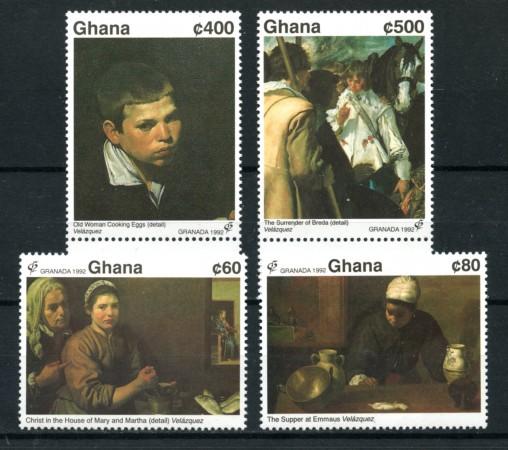1992 - LOTTO/19498 - GHANA - EXPO FILATELICA GRANADA 92 4V. - NUOVI