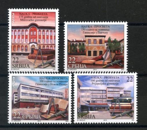 2013 - SERBIA REPUBBLICA - SCUOLE DELLA SERBIA 4v. - NUOVI - LOTTO/35236