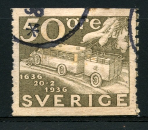 1936 - LOTTO/12164 - SVEZIA - 50 ore CENTENARIO POSTE - USATO