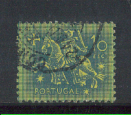 1953 - LOTTO/9745OU - PORTOGALLO - 10e. SIGILLO RE DENIS - USATO
