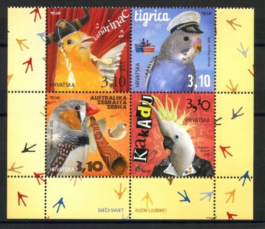 2015 - CROAZIA - ANIMALI DA COMPAGNIA 4v. - NUOVI - LOTTO/33230