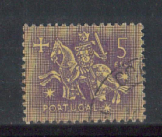 1953 - LOTTO/9745NU - PORTOGALLO - 5e. SIGILLO RE DENIS - USATO