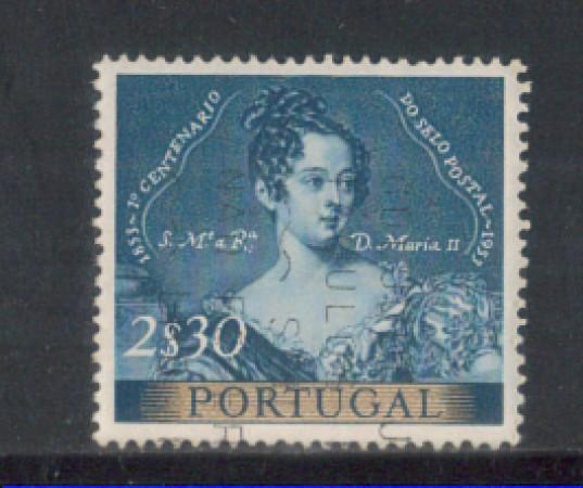1953 - LOTTO/9750DU - PORTOGALLO- 2,30e. CENT. FRANCOBOLLO- USAT