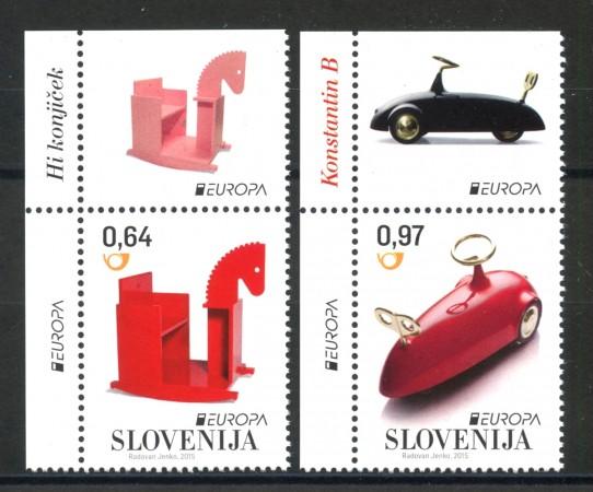 2015 - SLOVENIA - EUROPA GIOCATTOLI  2v. - NUOVI - LOTTO/34607