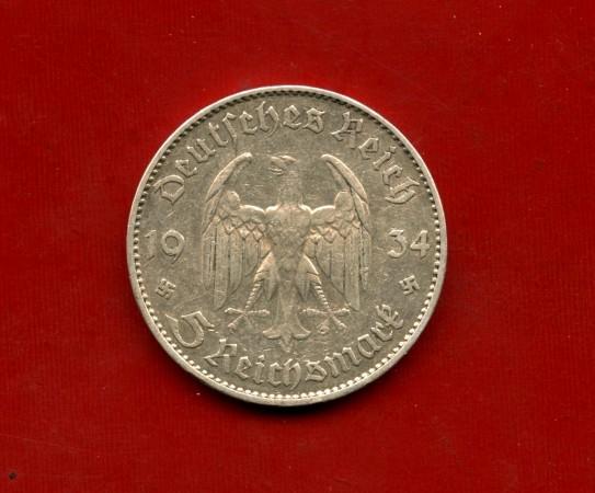 1934 - GERMANIA - 5 MARCHI ANNIVERSARIO ARGENTO - ZECCA J - LOTTO/M30503
