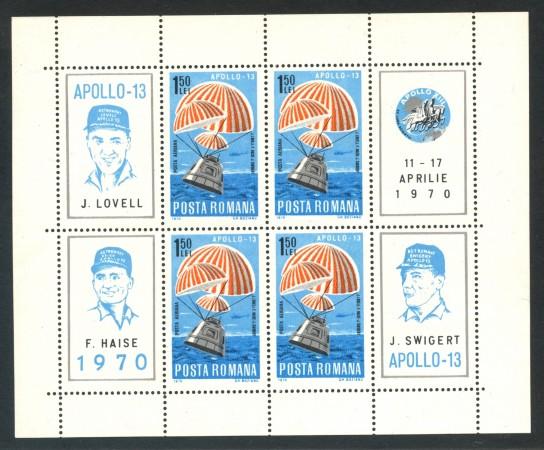 1970 - ROMANIA - APOLLO 13 - FOGLIETTO NUOVO - LOTTO/29343