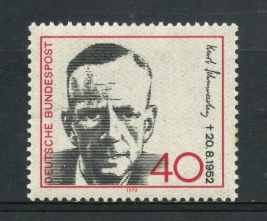 1972 - GERMANIA - KURT SCHUMACHER - NUOVO - LOTTO/31060