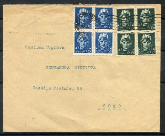 1945 - ITALIA -  LUOGOTENENZA  - BUSTA DA MILANO A COMO - LOTTO/28281