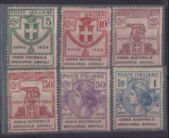 1924 - LOTTO/REGSS29CPN - REGNO - CASSA NAZ. ASSICURAZ. SOCIALI