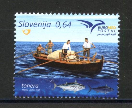 2015 - SLOVENIA - EUROMED POSTAL - NUOVO - LOTTO/34610