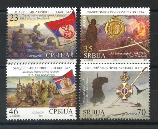 2014 - SERBIA REPUBBLICA - PRIMA GUERRA MONDIALE 4v. - NUOVI - LOTTO/35247