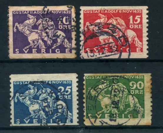 1932 - LOTTO/24064 - SVEZIA - BATTAGLIA DI LUTZEN 4v. - USATI