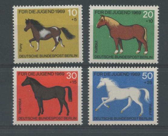 1969 - LOTTO/15530 - BERLINO - PRO GIOVENTU' CAVALLI 4v. - NUOVI