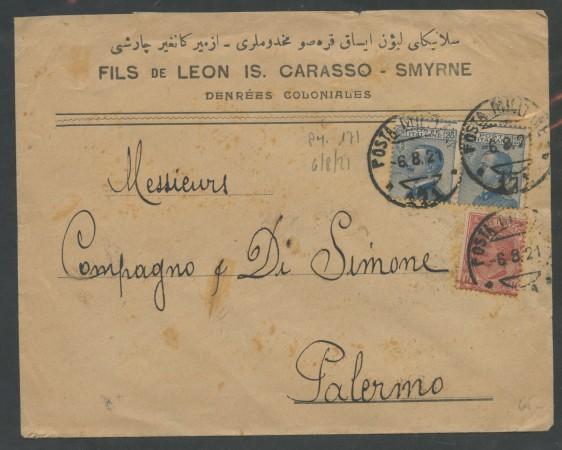 1921 - REGNO - POSTA MILITARE 171 - SU BUSTA PER PALERMO - LOTTO/30406