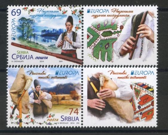 2014 - SERBIA REPUBBLICA - EUROPA STRUMENTI MUSICALI 2v. - NUOVI - LOTTO/35245