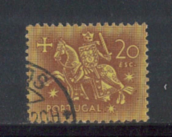1953 - LOTTO/9745PU - PORTOGALLO - 20e. SIGILLO RE DENIS - USATO