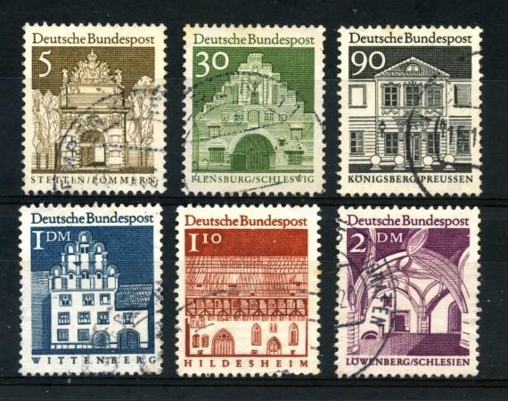 1966 - GERMANIA FEDERALE - EDIFICI STORICI 6v. - USATI - LOTTO/30902U