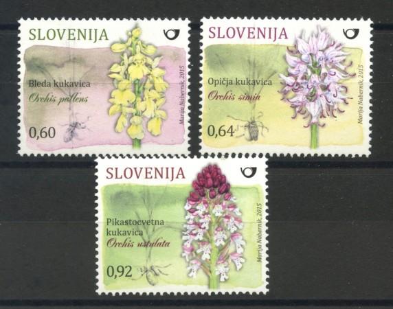 2015 - SLOVENIA - ORCHIDEE  3v. - NUOVI - LOTTO/34599