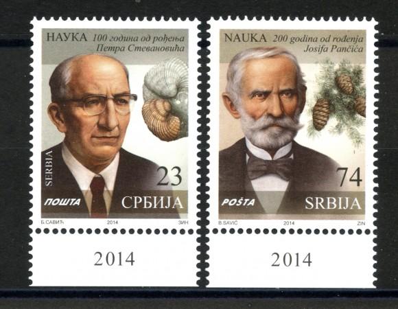 2014 - SERBIA REPUBBLICA - PERSONALITA' SCIENTIFICHE 2v. - NUOVI - LOTTO/35252