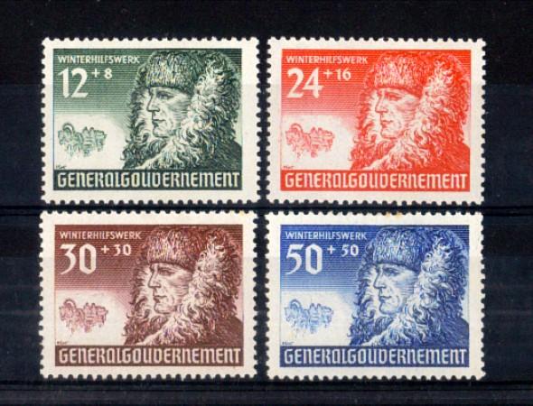 1940 - LOTTO/11277 - POLONIA OCCUP.TEDESCA - SOCCORSO INVERNALE 4v. - LING.