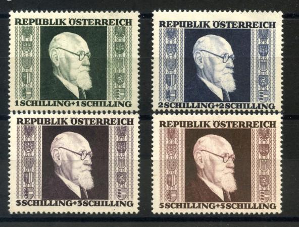 1946 - AUSTRIA - PRESIDENTE KARL RENNER 4v. NUOVI - LOTTO/34056