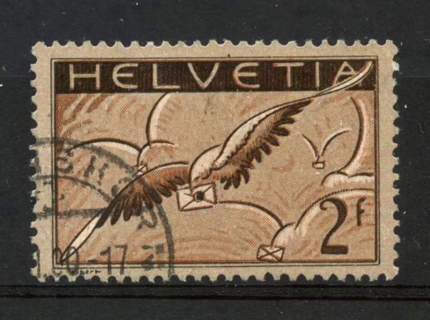 1929/30 - SVIZZERA - 2  Fr. POSTA AEREA - USATO - LOTTO/30674