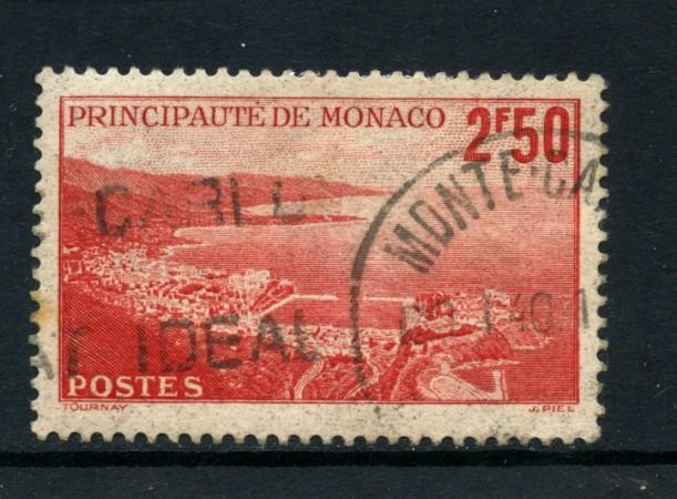 1939/41 - MONACO - 2,50 FRANCHI VEDUTE - USATO