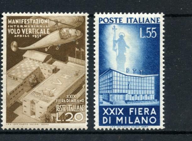 1951 - REPUBBLICA - 29° FIERA DI MILANO 2v. - NUOVI - LOTTO/30312A