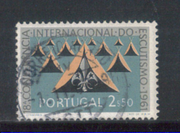 1962 - LOTTO/9784DU - PORTOGALLO - 2,50e. SCOUTS - USATO