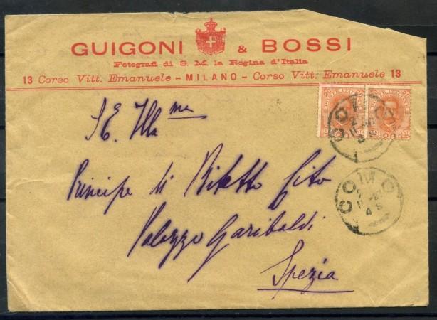 1889 - REGNO - BUSTA DA COMO PER SPEZIA - LOTTO/28282