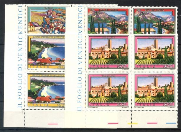 1981 - LOTTO/6743Q - REPUBBLICA - TURISTICA 8° SERIE 4v. - QUARTINE NUOVI