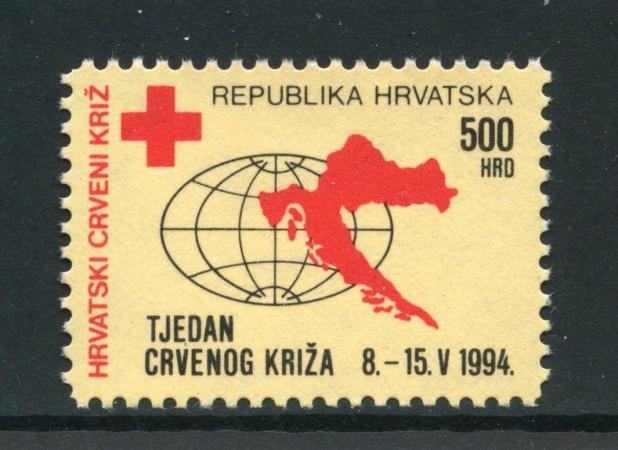 1994 - CROAZIA - BENEFICENZA - CROCE ROSSA - NUOVO - LOTTO/32637