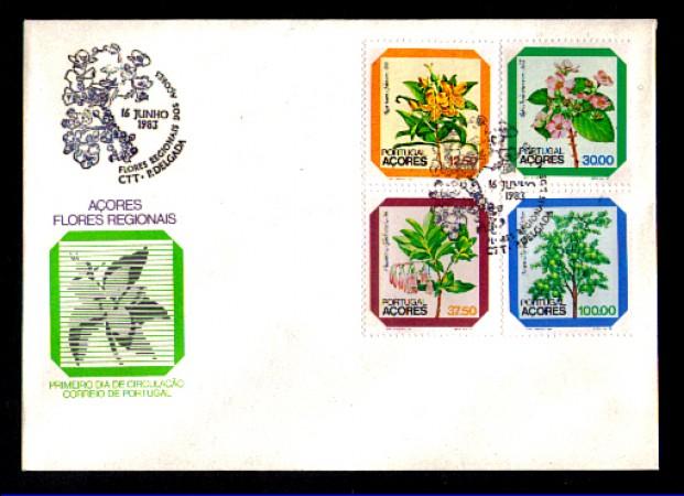 1983 - LOTTO/AZO28FDC - AZZORRE - FLORA LOCALE - BUSTA FDC
