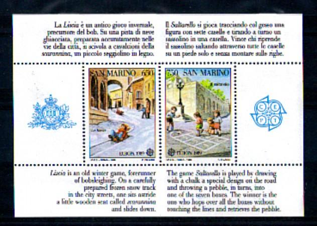 1989 - LOTTO/8092N - SAN MARINO - EUROPA - FOGLIETTO NUOVO