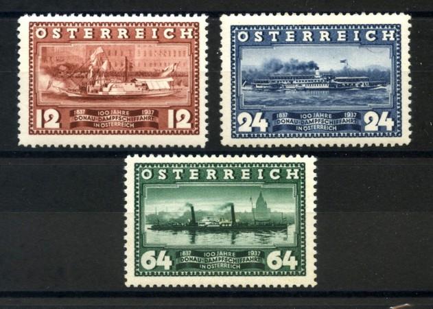 1937 - AUSTRIA - NAVIGAZIONE A VAPORE 3v. NUOVI - LOTTO/34047