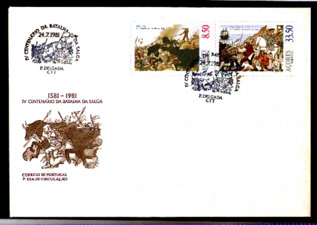 1981 - LOTTO/10973 - AZZORRE - BATTAGLIA DI SALGA - BUSTA FDC