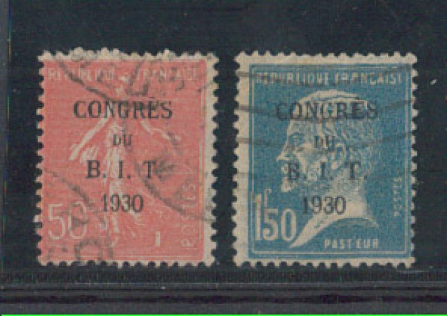 1930 - LOTTO/5208 - FRANCIA - CONGRESSO B.I.T. 2v. - USATI
