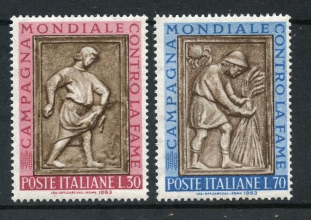 1963 - LOTTO/6412 - REPUBBLICA - CAMPAGNA CONTRO LA FAME 2v. - NUOVI
