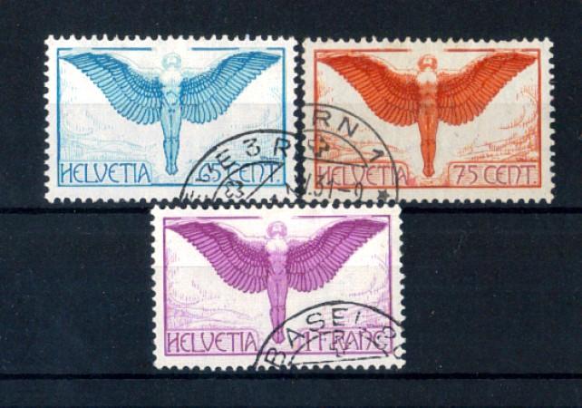 1924 - LOTTO/10655U - SVIZZERA - POSTA AEREA ICARO 3v. - USATI