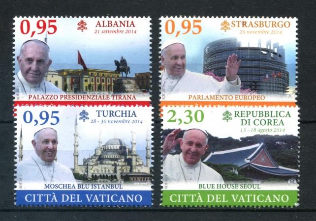 2015 - VATICANO - VIAGGI PAPA 4v. - NUOVI - LOTTO/306987