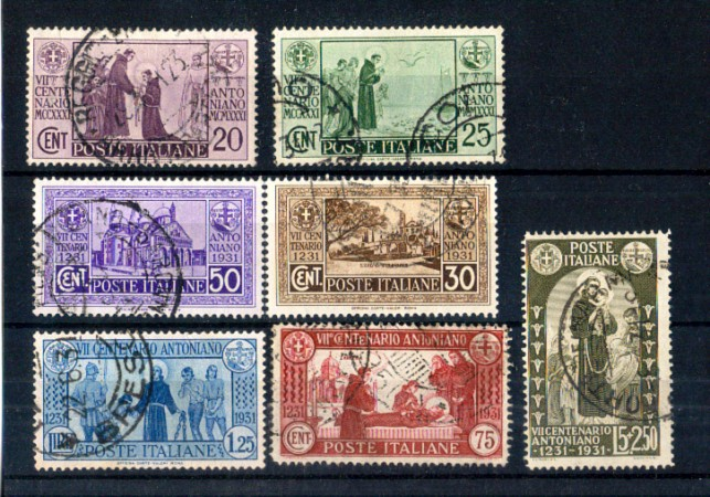 1931 - LOTTO/11388 - REGNO - S. ANTONIO 7v. - USATI