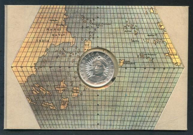 1991 - REPUBBLICA - 500 LIRE ARGENTO SCOPERTA DELL'AMERICA - LOTTO/M28950