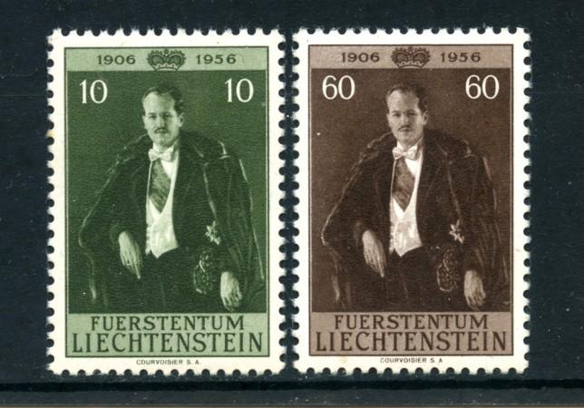 1956 - LOTTO/4964 - LIECHTENSTEIN -  10/60 r. COMPLEANNO PRINCIPE - NUOVI