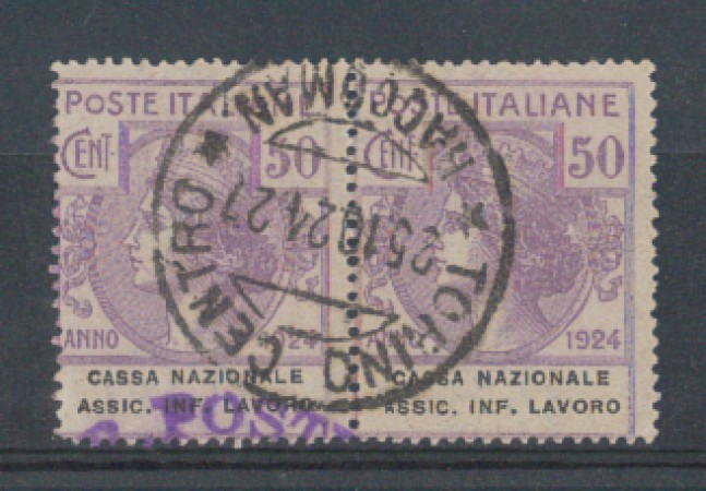 1924 - LOTTO/REGSS21CU - REGNO - 50c. CASSA NAZ. ASSIC.INFORTUNI