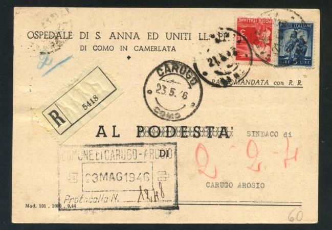 1946 - LOTTO/18287 - LUOGOTENENZA - UMBERTO  RE DI MAGGIO